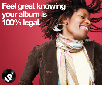 Feel great knowing your music is 100% legal.